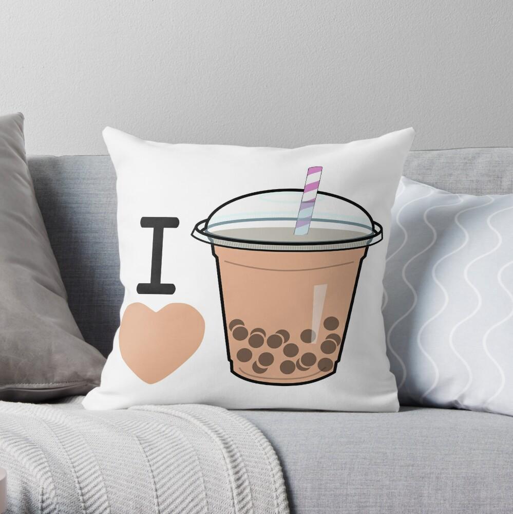 I Lubba Bubble Tea Third Culture Series Throw Pillow