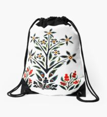Slavic Flower 1 Drawstring Bag