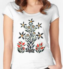 Slavic Flower 1 Fitted Scoop T-Shirt