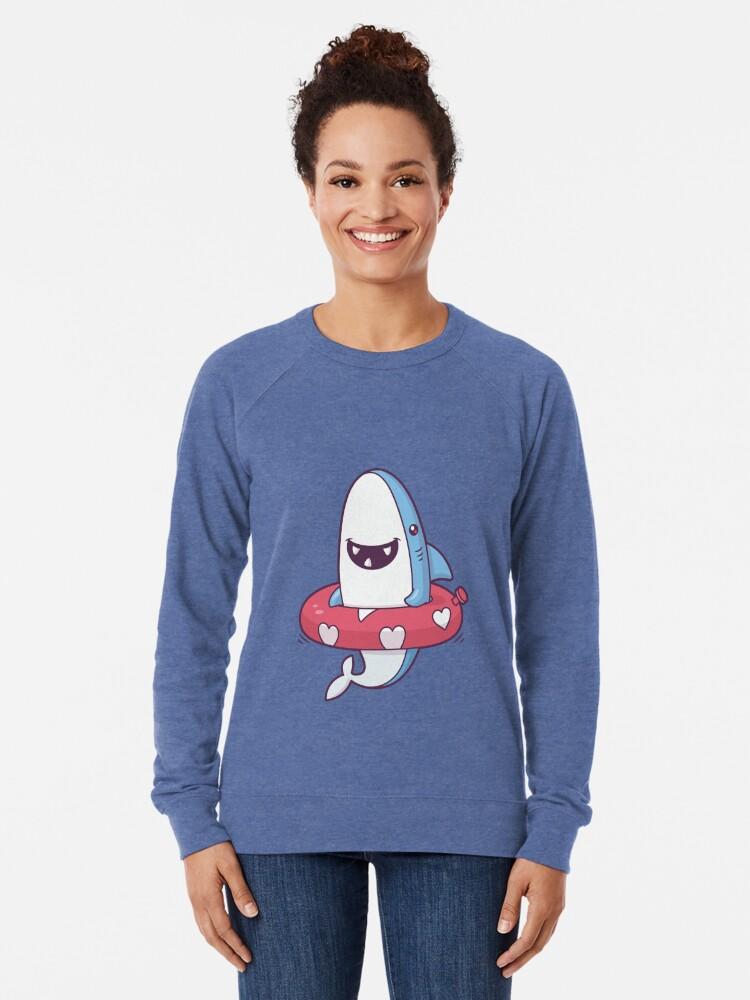 Alternate view of Shark Summer Fun Lightweight Sweatshirt