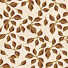 Golden Seed Pods Print by SandAndChi