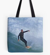 Chased By Water Tote Bag