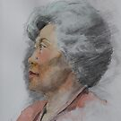 pencil portrait with watercolour 2 by Mick Kupresanin