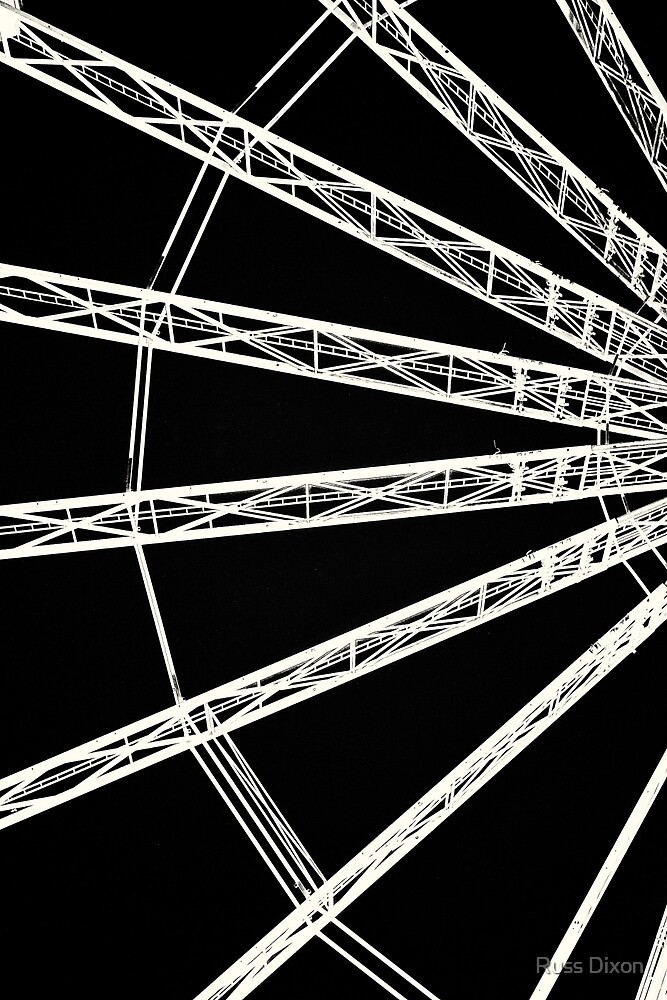 Ferris wheel abstract by Russ Dixon