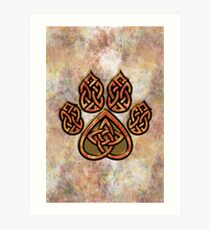Celtic Knot Pawprint - Prints and Cards Art Print