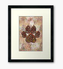 Celtic Knot Pawprint - Prints and Cards Framed Art Print