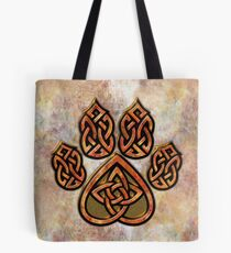Celtic Knot Pawprint - Prints and Cards Tote Bag
