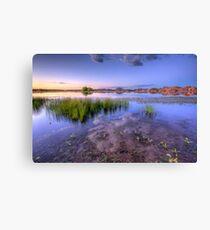 A Lake As Seen Through A Camera Canvas Print