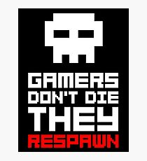 Pixel Skull Gamers Don't Die Photographic Print