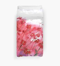 Flowers - Dancing Poppies Duvet Cover