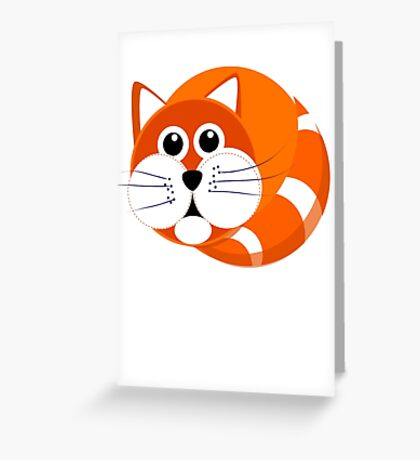 Ginger Cat Puss Greeting Card