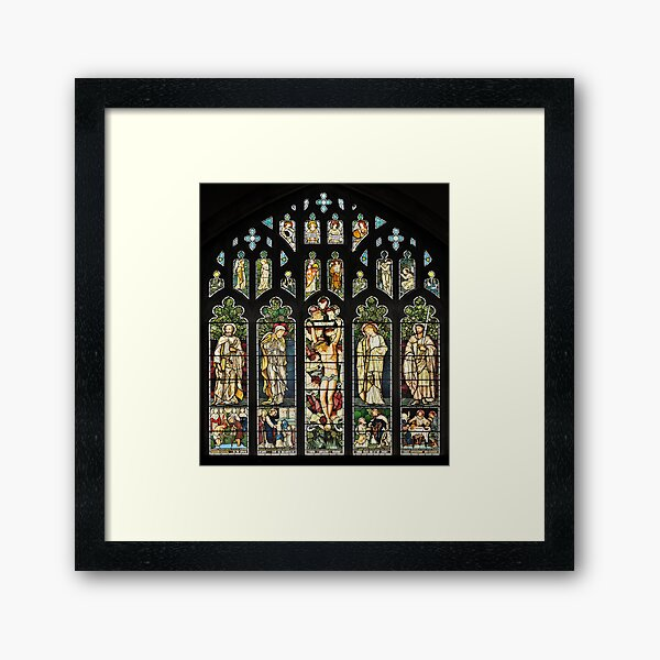 The East Window of Troutbeck Church, Cumbria Framed Art Print