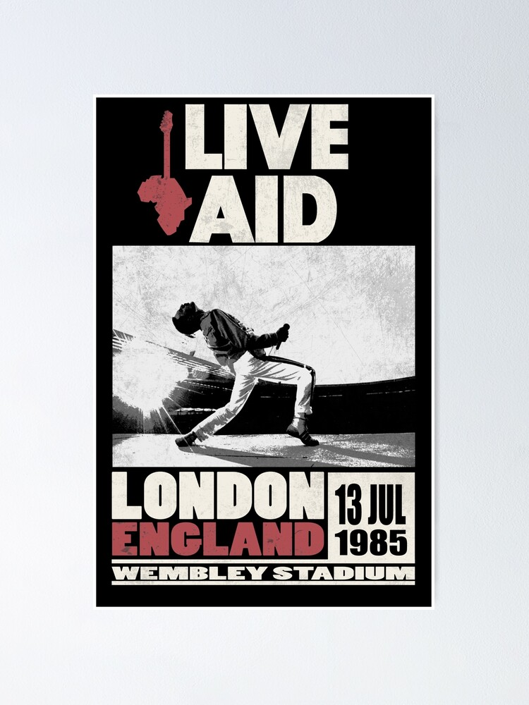 Alternate view of Live Aid at Wembley Poster