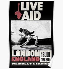 Live Aid at Wembley Poster