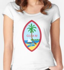 Seal of Guam  Women's Fitted Scoop T-Shirt