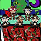 The Superheroes Alphabet- 5 little monkeys by strawberries