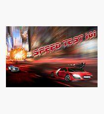speed tests Photographic Print