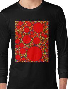 Random Tiling Red Long Sleeve T-Shirt