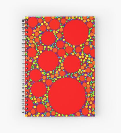 Random Tiling Red Spiral Notebook