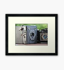 Painting with Light.....vintage cameras  Framed Print
