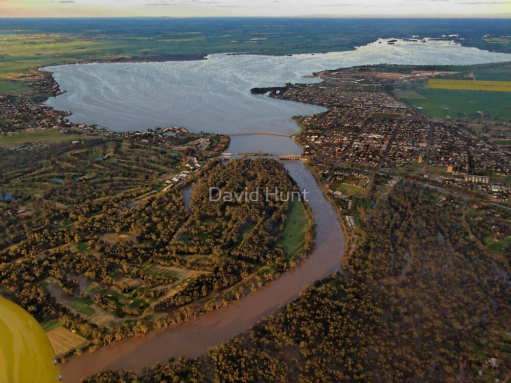 Yarrawonga Mulwala From The Air By David Hunt Redbubble