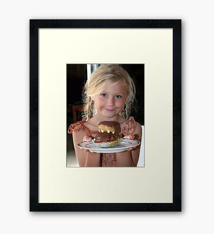 Patty's Cake Framed Print
