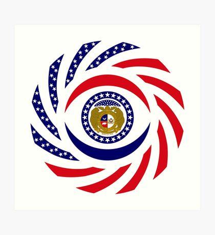Missouri Murican Patriot Flag Series Art Print