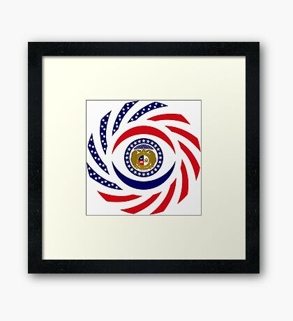 Missouri Murican Patriot Flag Series Framed Print