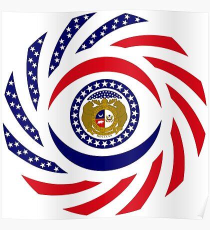 Missouri Murican Patriot Flag Series Poster