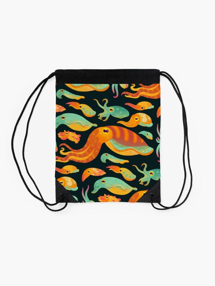 Alternate view of Cuttlefish - dark Drawstring Bag
