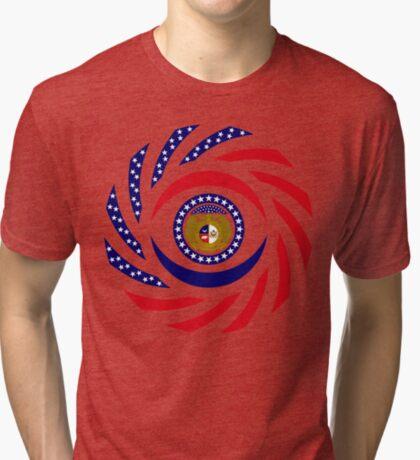 Missouri Murican Patriot Flag Series Tri-blend T-Shirt