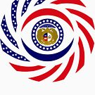 Missouri Murican Patriot Flag Series by Carbon-Fibre Media