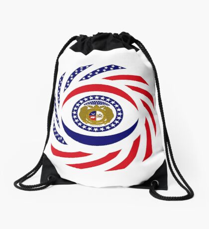 Missouri Murican Patriot Flag Series Drawstring Bag