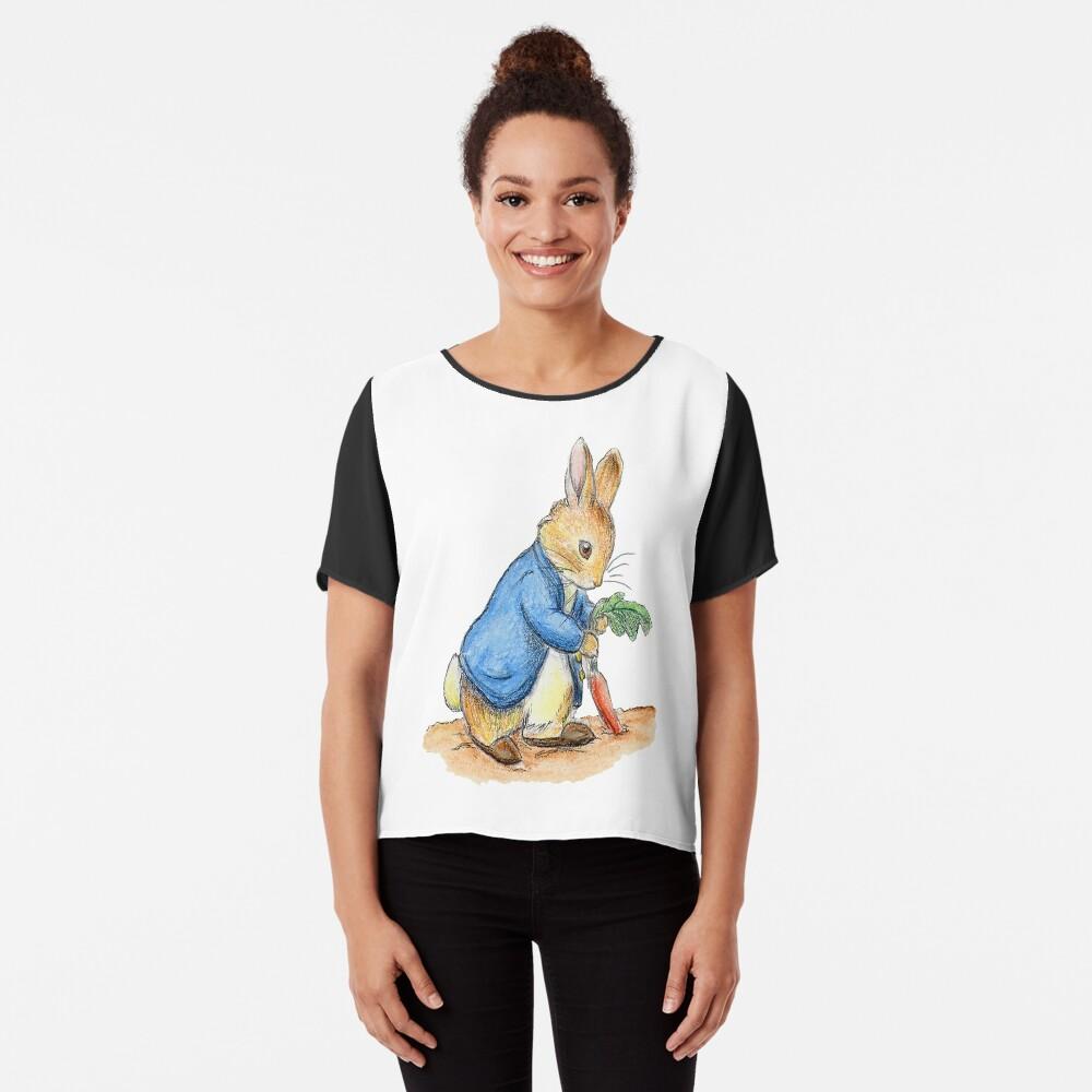 Kindergartenfiguren, Peter Rabbit, Beatrix Potter. Chiffon Top