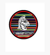 Nerdherder Tri-color Photographic Print