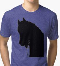 horse head silhouette Tri-blend T-Shirt