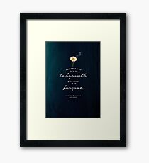 THE ONLY WAY OUT OF THE LABYRINTH OF SUFFERING - LOOKING FOR ALASKA - JOHN GREEN Framed Print