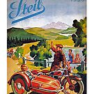 Vintage 1936 Steib Motorcycle Sidecar Advertisement by edsimoneit