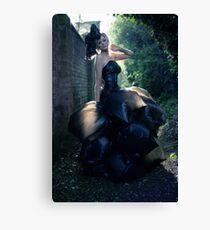 The Bin Bag Dress - Fashion Shoot Canvas Print