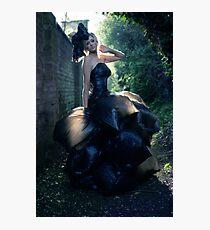 The Bin Bag Dress - Fashion Shoot Photographic Print