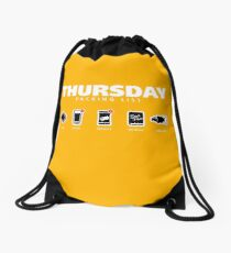 THURSDAY - The Hitchhiker's Guide to the Galaxy Packing List Drawstring Bag