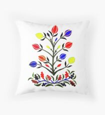 Slavic Flower 4 Throw Pillow