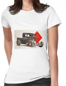 1932 Ford rat rod pick up truck Womens Fitted T-Shirt