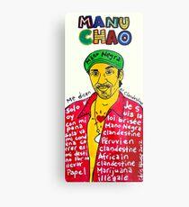 Manu Chao Reggae Ska Pop Folk Art Metal Print