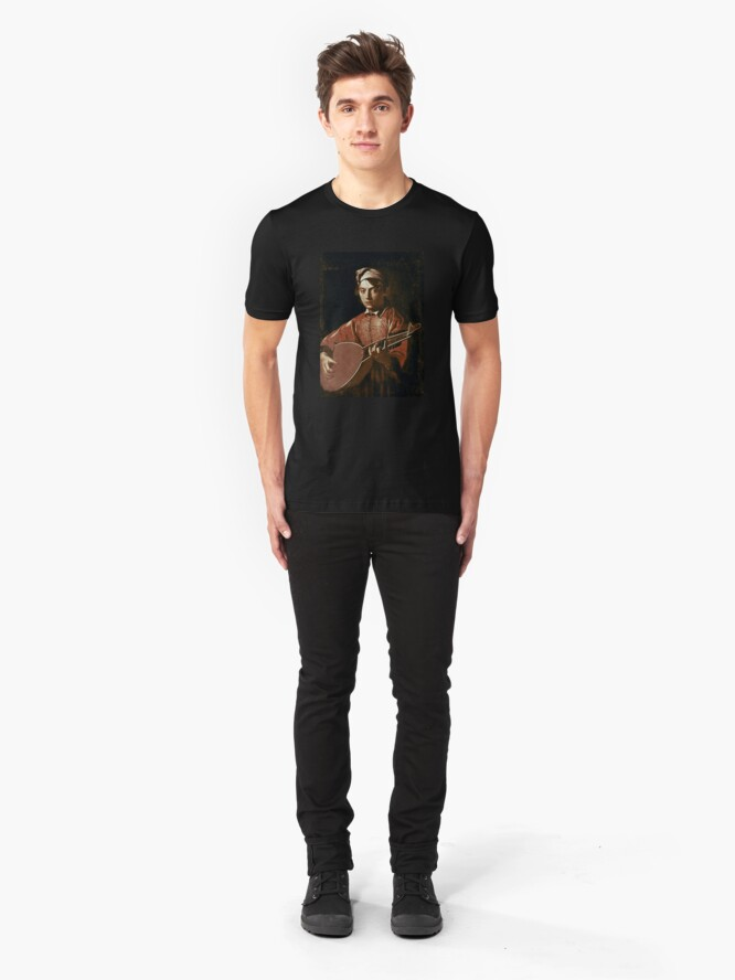 Alternate view of Caravaggio - Lute Player Slim Fit T-Shirt