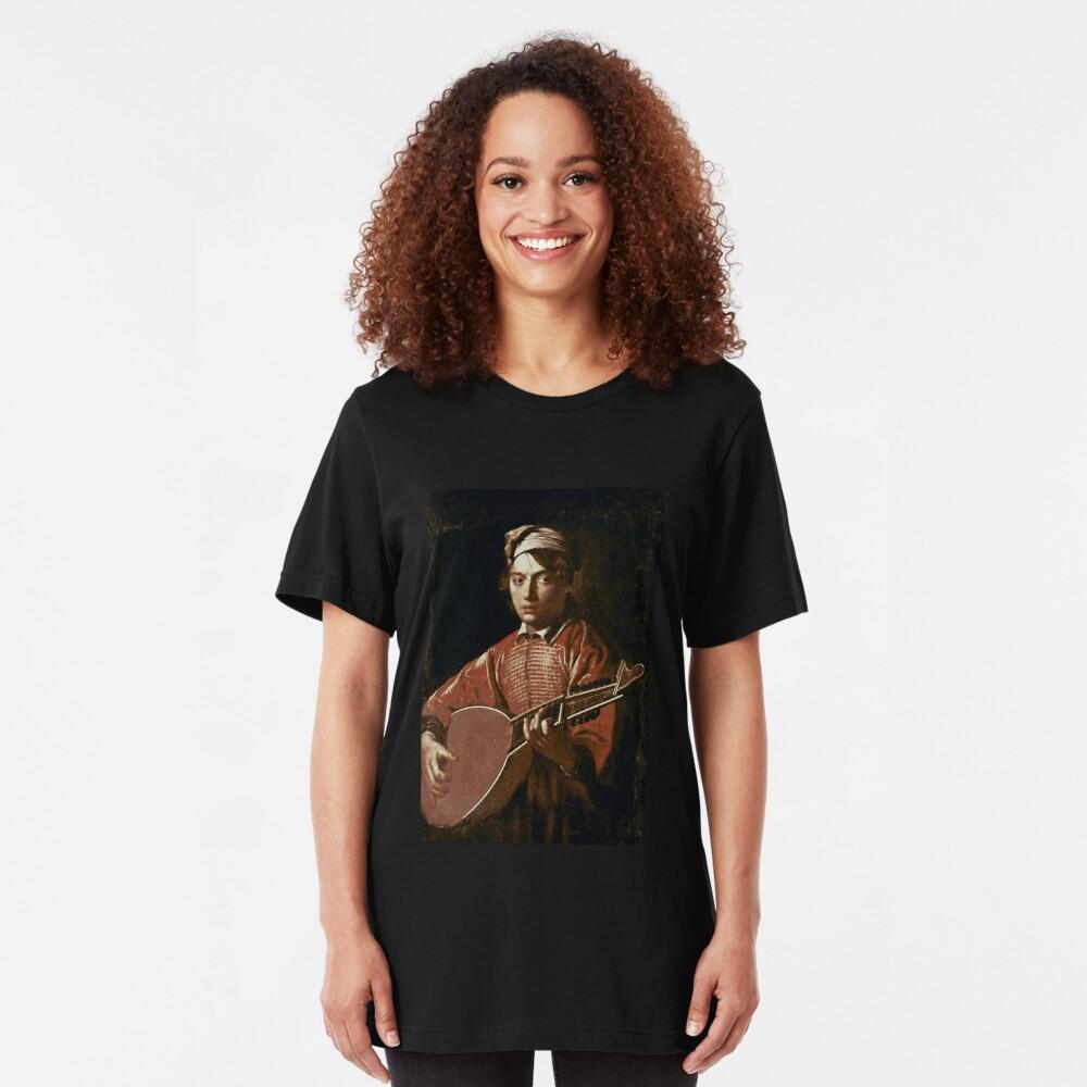 Caravaggio - Lute Player Slim Fit T-Shirt