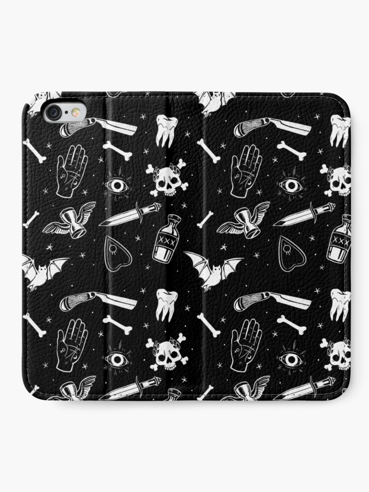 Alternate view of A Few of My Macabre Things iPhone Wallet