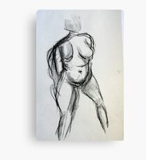 Bodies 1: Figure Sketch Canvas Print