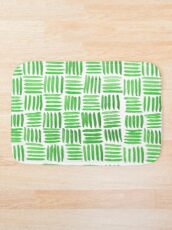 Green Parquet Bath Mat