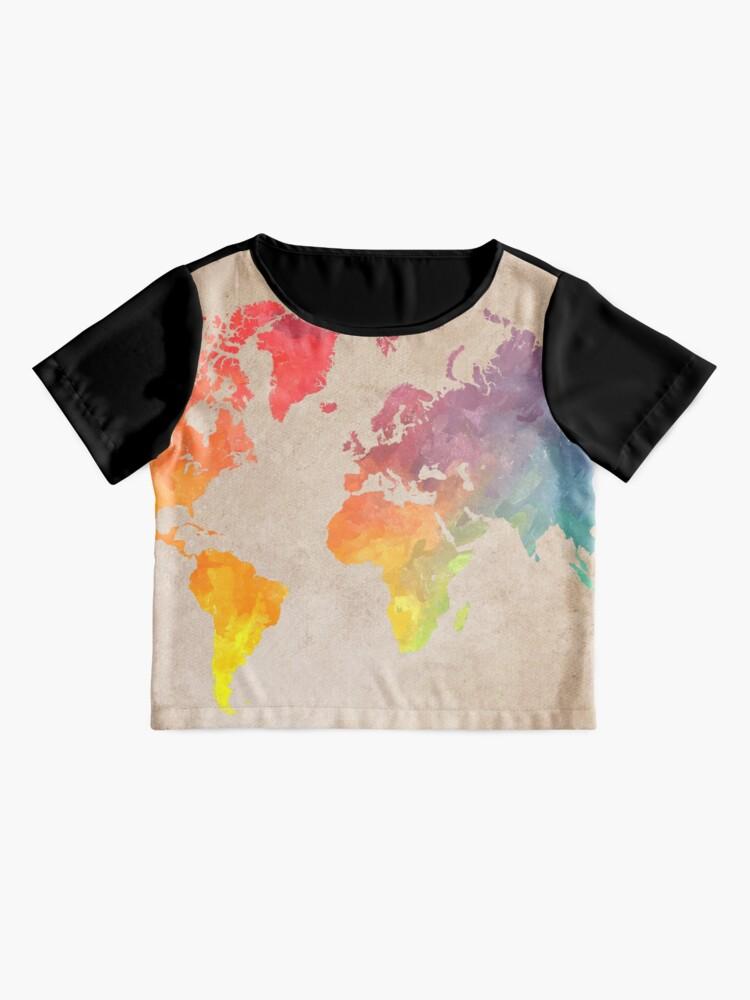Alternate view of World Map maps Chiffon Top